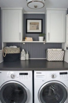 Popular Farmhouse Laundry Room Decorating Ideas26