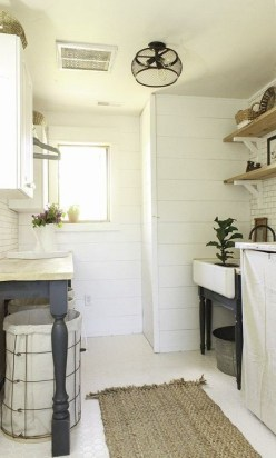Popular Farmhouse Laundry Room Decorating Ideas34