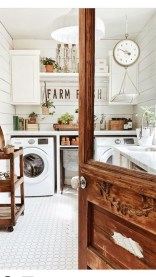 Popular Farmhouse Laundry Room Decorating Ideas43