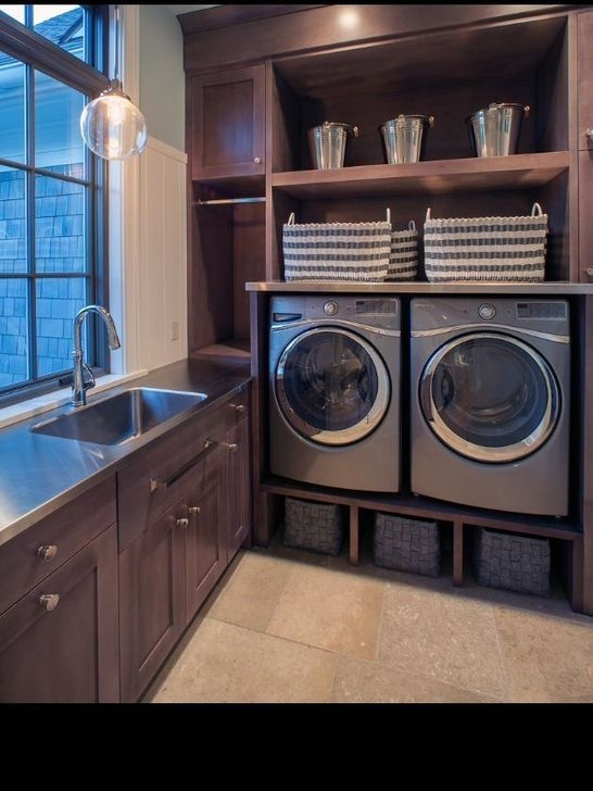 Popular Farmhouse Laundry Room Decorating Ideas44