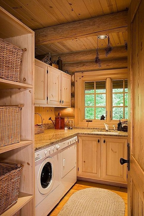 Popular Farmhouse Laundry Room Decorating Ideas45
