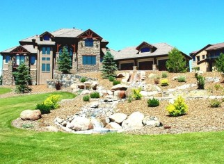 Pretty Front Yard Rock Garden And Landscaping Ideas12