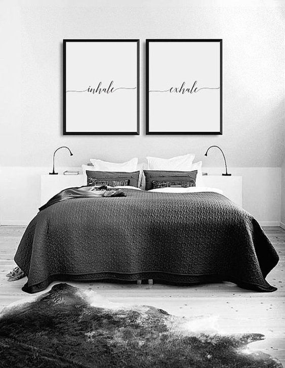 Stunning White Black Bedroom Decoration Ideas For Romantic Couples05