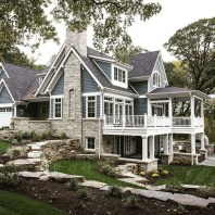 Attractive Lake House Home Design Ideas43