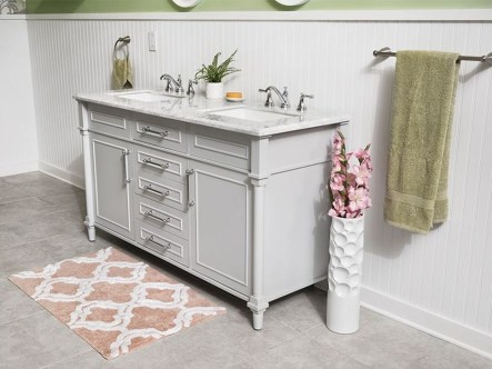 Elegant Bathroom Cabinet Remodel Ideas34