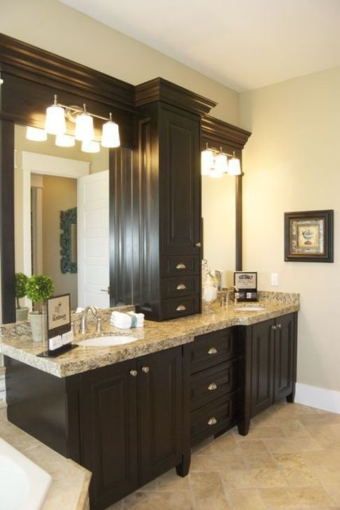 Elegant Bathroom Cabinet Remodel Ideas46