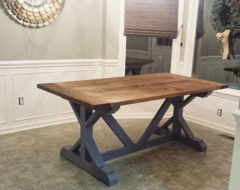 Cute Farmhouse Dining Room Table Ideas08
