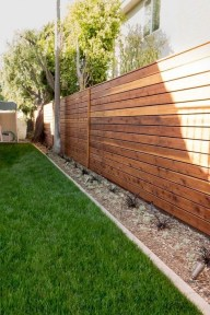 Stylish Wooden Privacy Fence Patio Backyard Landscaping Ideas11