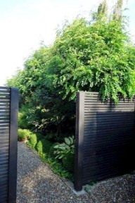 Stylish Wooden Privacy Fence Patio Backyard Landscaping Ideas12