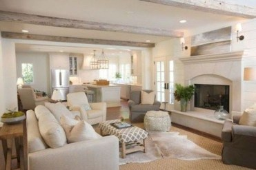 Amazing Living Rooms Design Ideas With Exposed Wooden Beams 14