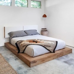 Elegant Platform Bed Design Ideas14