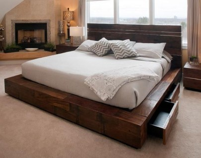 Elegant Platform Bed Design Ideas26