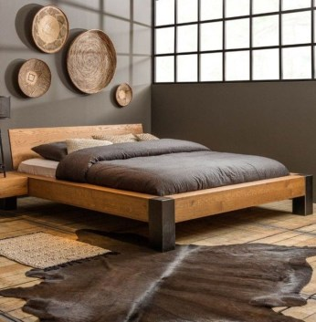 Elegant Platform Bed Design Ideas29