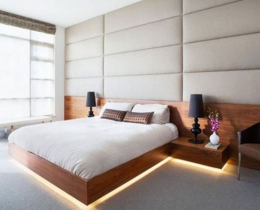 Elegant Platform Bed Design Ideas44