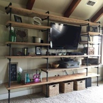 Inexpensive Diy Pipe Shelves Ideas On A Budget25
