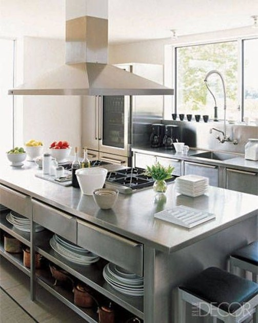 Stunning Stainless Steel Kitchen Tables Ideas08