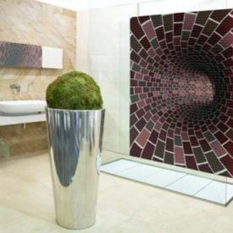Catchy Bathroom Mosaics Design Ideas 22