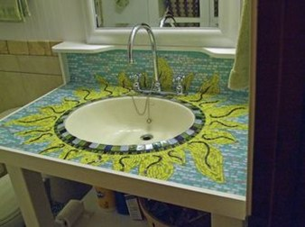 Catchy Bathroom Mosaics Design Ideas 23
