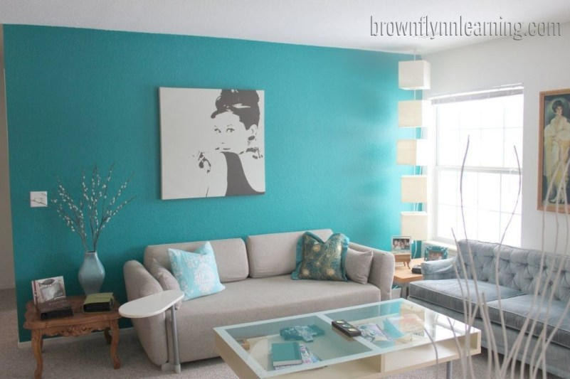 Enchanting Turquoise Living Room Ideas 10