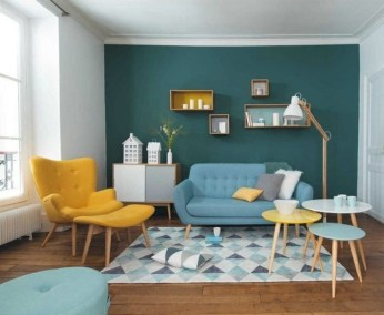 Enchanting Turquoise Living Room Ideas 30