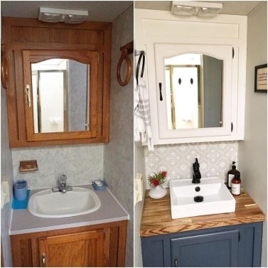 Splendid Rv Camper Remodel Ideas 21