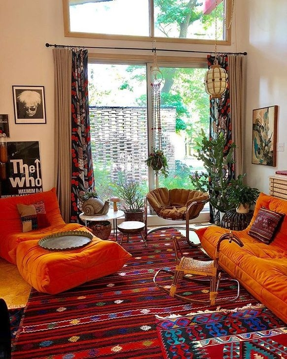 Relaxing Living Room Design Ideas With Orange Color Themes ...
