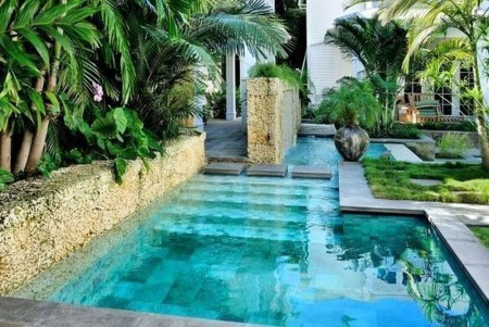 Comfy Backyard Designs Ideas With Swimming Pool Looks Cool 34