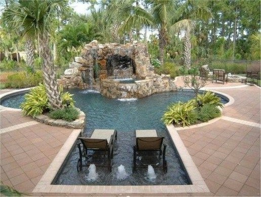Comfy Backyard Designs Ideas With Swimming Pool Looks Cool 46