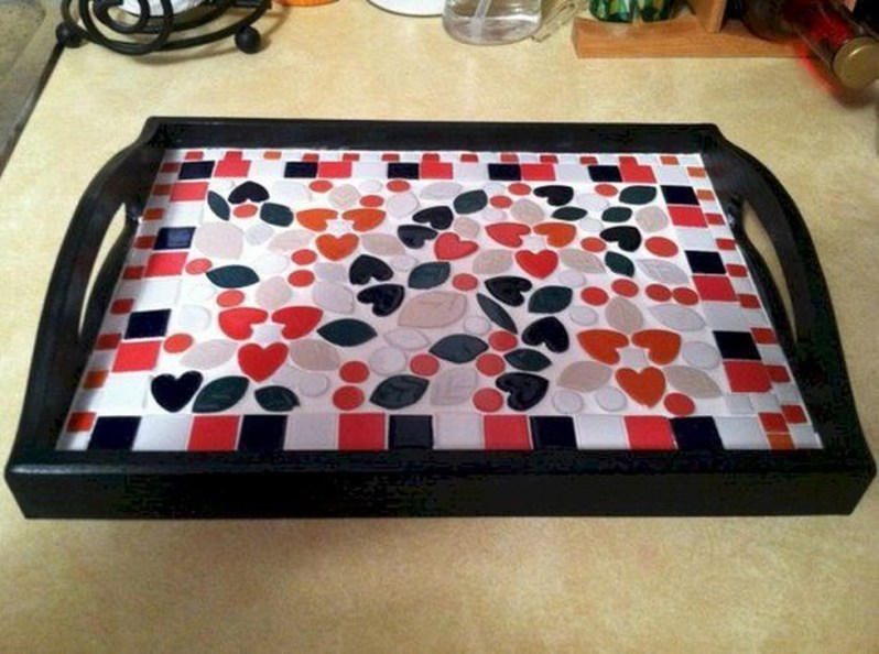 Enchanting Diy Mosaic Craft Ideas To Beautify Your Home Decoration 19