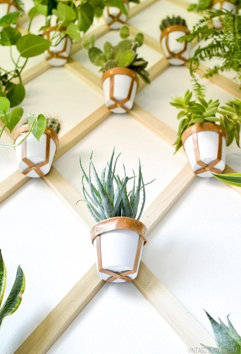 Fascinating Diy Wood And Leather Trellis Plant Ideas For Wall To Try 42