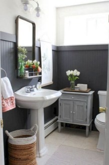 Lovely Farmhouse Bathroom Makeover Ideas To Try Right Now 41