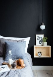 Delightful Bedroom Designs Ideas With Dark Wall That Breaks The Monotony 21