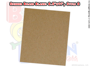 """Game Spinner Board Blank 8.5""""x11"""" (style 2)"""