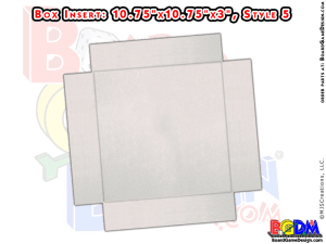 BoxInsert for Quad-Fold Gameboard (Style 5)