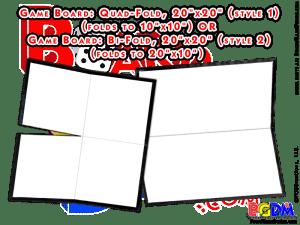Blank Game Boards, Boardgame Blanks