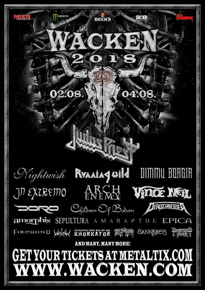 Judas Priest naar Wacken Open Air 2018