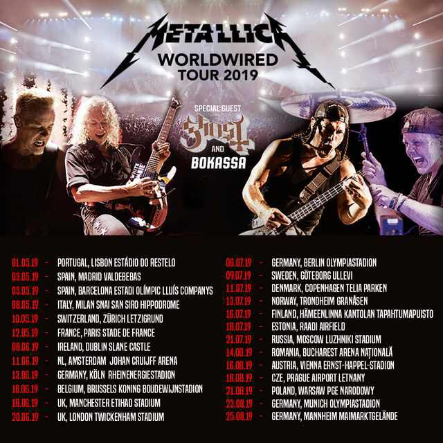 Metallica Worldwired Tour 2019