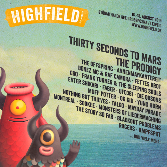 Highfield 2019 met Thirty Seconds to Mars en The Prodigy