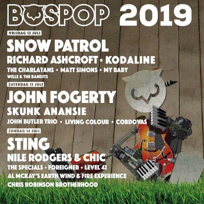 Sting en meer voor Bospop 2019