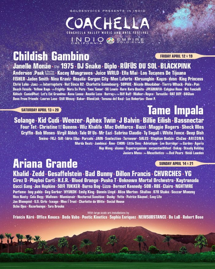Coachella Valley Music & Arts Festival 2019
