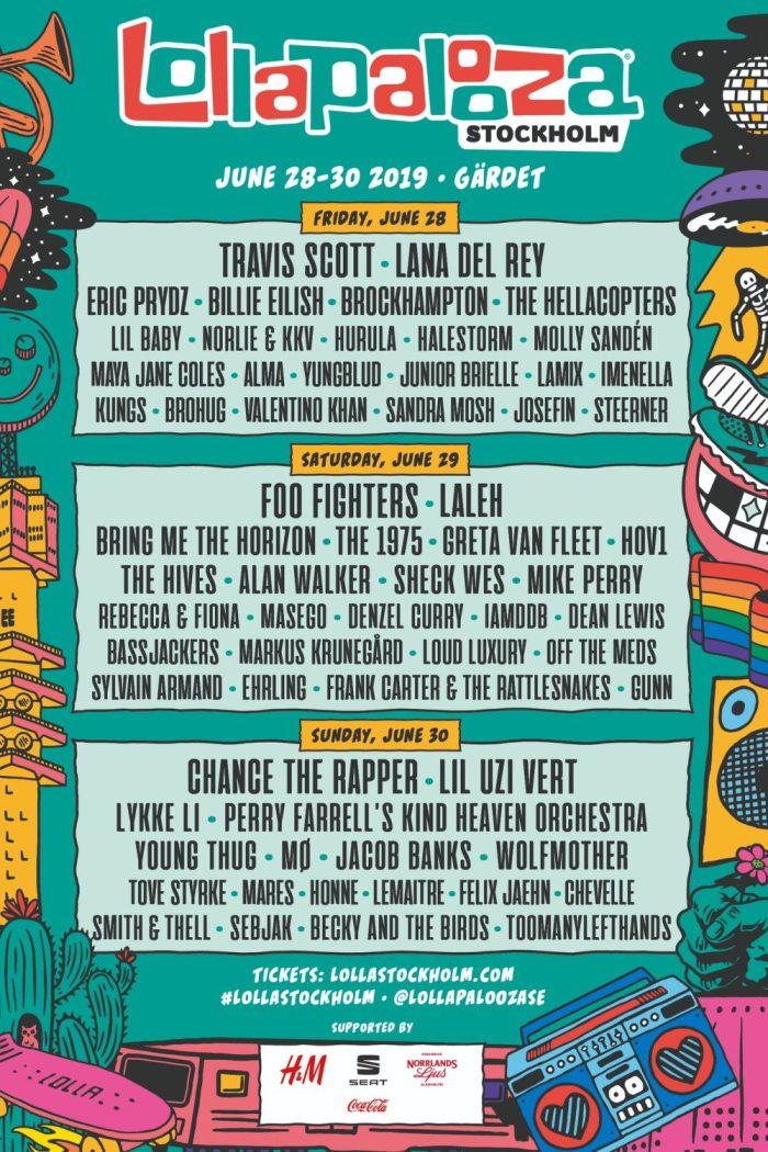Extra festivaldag en 33 nieuwe namen voor Lollapalooza Stockholm 2019