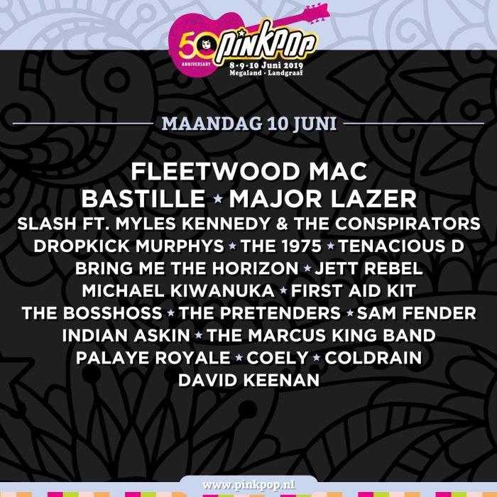 Pinkpop 2019 presenteert maandag 10 juni