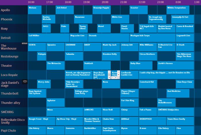 Paaspop 2019 presenteert timetable Vrijdag