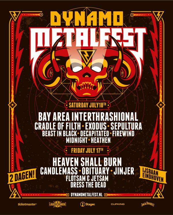 Affiche Dynamo MetalFest 2020 compleet