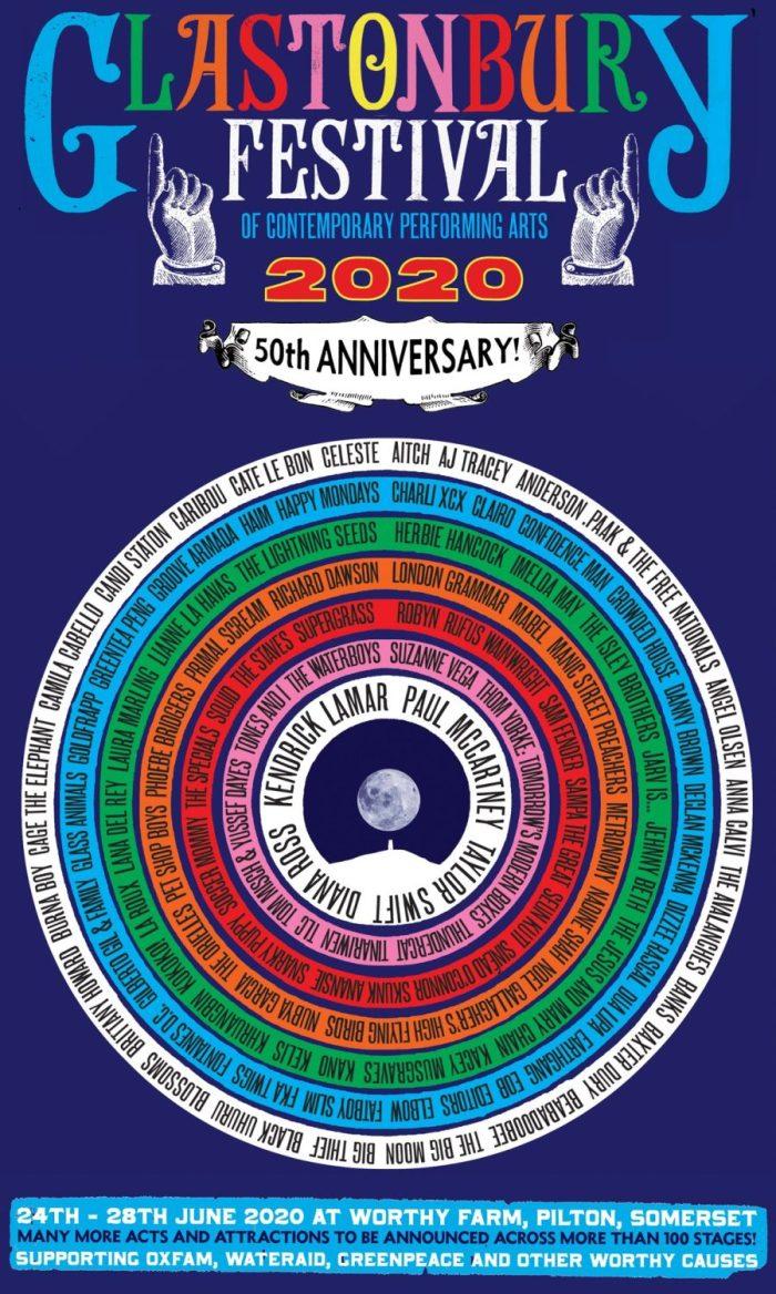 Glastonbury 2020 presenteert grote namen voor 50e verjaardag