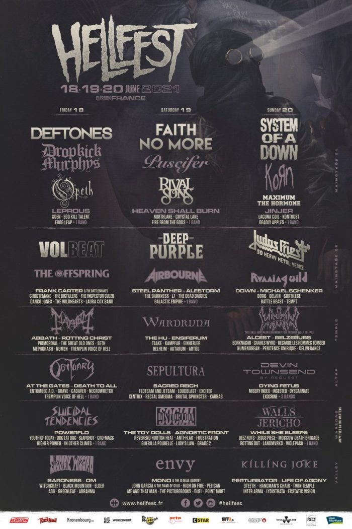 Hellfest 2021 affiche