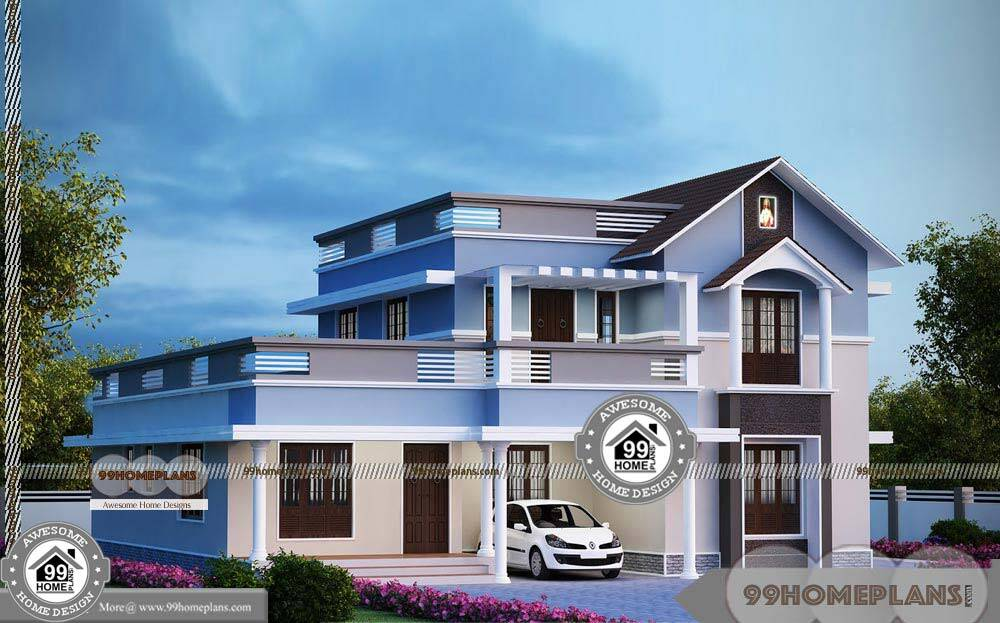 Modern Two Story Homes with Cute and Simple Kerala
