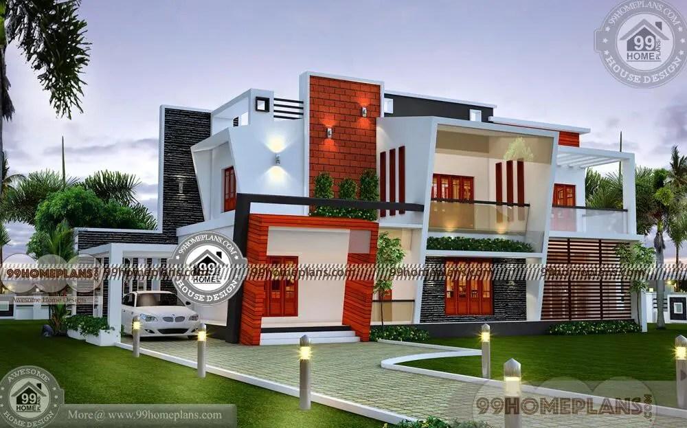 Contemporary Home Designs Kerala Style Modern Exterior Plan Collection