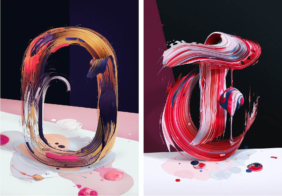 Painting Typography Design 11