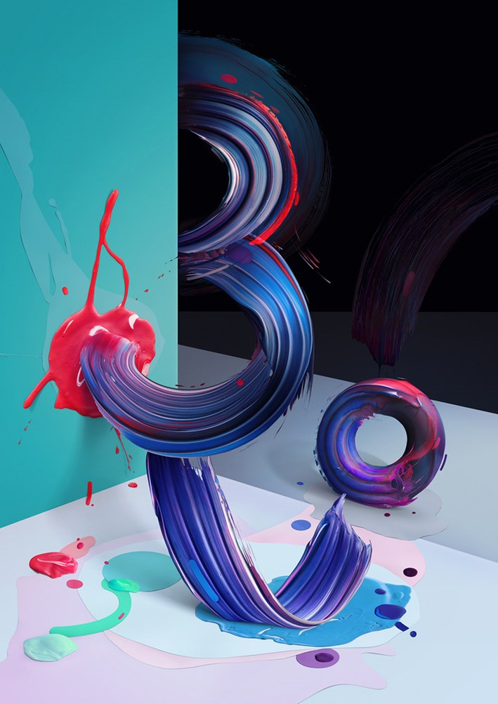 Painting Typography Design 4
